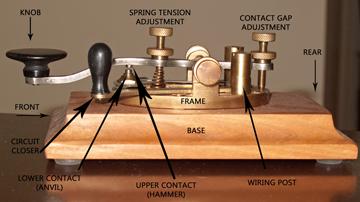 KD2UJ Telegraphy - Parts of a Key
